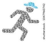 running gentleman collage of... | Shutterstock .eps vector #1047960742