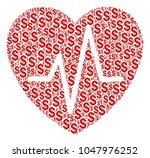 cardiology mosaic of dollars.... | Shutterstock .eps vector #1047976252