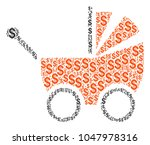 baby carriage collage of...   Shutterstock .eps vector #1047978316