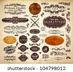 vector set  calligraphic design ... | Shutterstock .eps vector #104798012