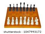 chessmen on the board   Shutterstock . vector #1047993172