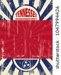 a vintage tennessee poster with ... | Shutterstock .eps vector #1047994426