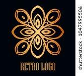 vintage ornamental logo... | Shutterstock .eps vector #1047995506