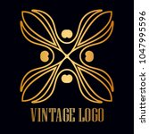 vintage ornamental logo... | Shutterstock .eps vector #1047995596