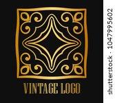 vintage ornamental logo... | Shutterstock .eps vector #1047995602