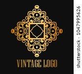 vintage ornamental logo... | Shutterstock .eps vector #1047995626
