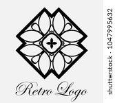 vintage ornamental logo... | Shutterstock .eps vector #1047995632