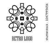 vintage ornamental logo... | Shutterstock .eps vector #1047995656