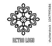 vintage ornamental logo... | Shutterstock .eps vector #1047995686