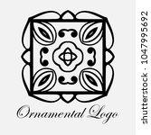 vintage ornamental logo... | Shutterstock .eps vector #1047995692