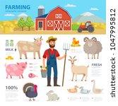farming infographic elements.... | Shutterstock .eps vector #1047995812