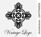 vintage ornamental logo... | Shutterstock .eps vector #1047996856