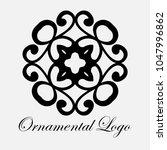 vintage ornamental logo... | Shutterstock .eps vector #1047996862