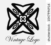 vintage ornamental logo... | Shutterstock .eps vector #1047996916