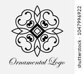 vintage ornamental logo... | Shutterstock .eps vector #1047996922