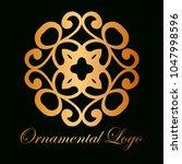 vintage ornamental logo... | Shutterstock .eps vector #1047998596