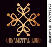 vintage ornamental logo... | Shutterstock .eps vector #1047998602
