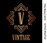 vintage ornamental logo... | Shutterstock .eps vector #1047998782