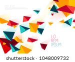book cover design template with ... | Shutterstock .eps vector #1048009732