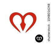 letter m heart style logo.... | Shutterstock .eps vector #1048016248