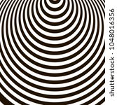 optical illusion  black and... | Shutterstock .eps vector #1048016356