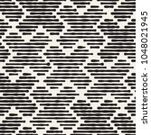 hand drawn striped seamless... | Shutterstock .eps vector #1048021945