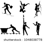 vector illustration of six... | Shutterstock .eps vector #1048038778