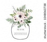 spring flowers bouquet for...   Shutterstock .eps vector #1048063738