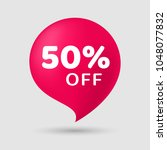 sale special offer 50  off... | Shutterstock .eps vector #1048077832