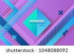 hipster modern geometric...   Shutterstock .eps vector #1048088092