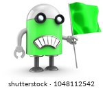 3d illustration of robot with... | Shutterstock . vector #1048112542