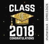 vector class of 2018 badge.... | Shutterstock .eps vector #1048112626