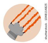 grey cat foot. cut a scratch... | Shutterstock .eps vector #1048114825