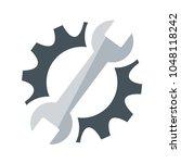 repair service icon. black cog... | Shutterstock .eps vector #1048118242