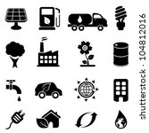 eco and environment icon set | Shutterstock .eps vector #104812016