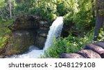 early morning minnehaha falls | Shutterstock . vector #1048129108