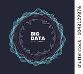 abstract big data illustration. ... | Shutterstock .eps vector #1048129876