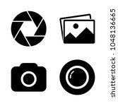 foto camera icon set. picture ... | Shutterstock .eps vector #1048136665