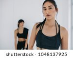 close up portrait of fitness...   Shutterstock . vector #1048137925