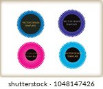 geometric shapes. banners ... | Shutterstock .eps vector #1048147426