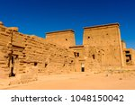 temple of isis from philae ... | Shutterstock . vector #1048150042