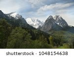 view from zugspitze mountain.2  ... | Shutterstock . vector #1048154638