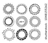vector sketch round frames .the ... | Shutterstock .eps vector #1048155262