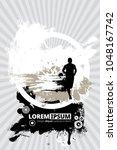 silhouette of marathon runner | Shutterstock .eps vector #1048167742
