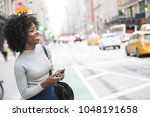 beautiful african american... | Shutterstock . vector #1048191658