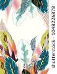 beautiful tropical illustration ... | Shutterstock .eps vector #1048226878