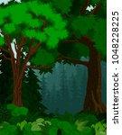 vector woodland green forest...   Shutterstock .eps vector #1048228225