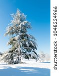 winter natural landscape  a big ... | Shutterstock . vector #1048234966
