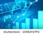 stock market or forex trading... | Shutterstock . vector #1048241992