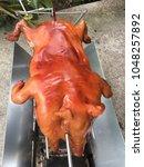 barbecue suckling pig | Shutterstock . vector #1048257892